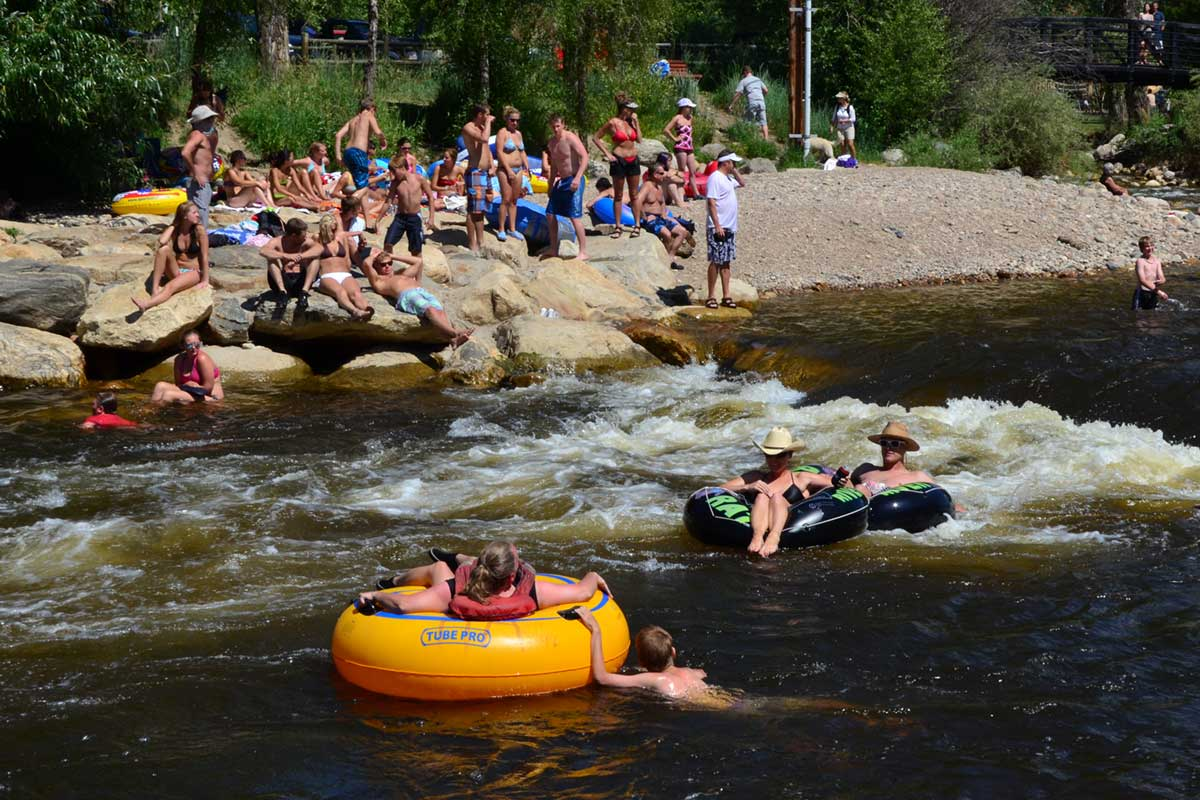 Tubing the Yampa in Steamboat Springs